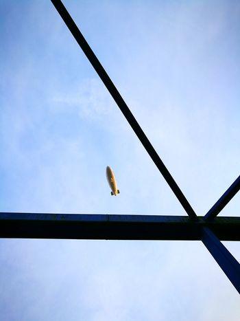Flying Outdoors Sky Zeppelin Tetraeder Closeup Fly Air Vehicle Fly Away