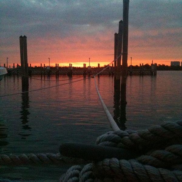 Sunset Miami beach Maimi , Docks , Sunset