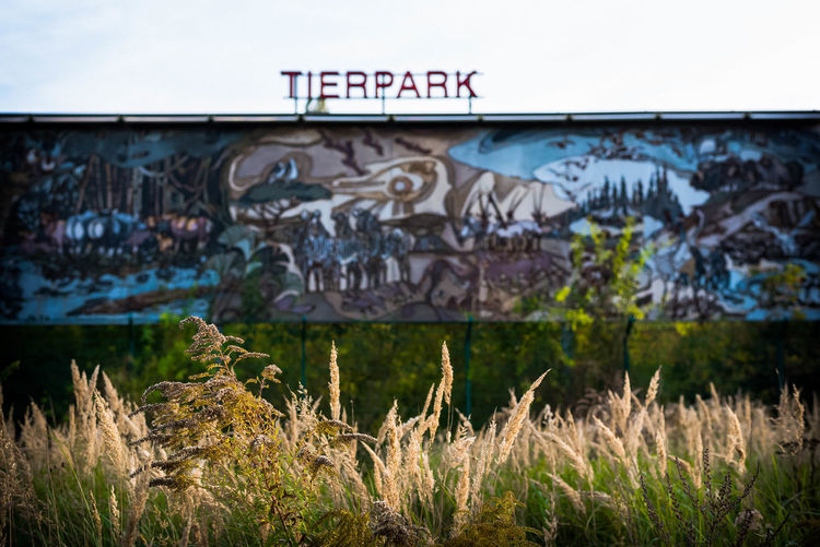 artful advertising - Tierpark Berlin/ Friedrichsfelde Berlin Friedrichsfelde Berlin Photography Berlin, Germany  Entrance From My Point Of View Growth Nikon Open Edit The Week On EyeEm Tierpark Berlin Urban Nature Wall Zoo Animal Themes Art Beauty In Nature Berliner Ansichten Caught Animals Eye4photography  Full Length Kunst Marketing Ostberlin Tierpark Wild Nature