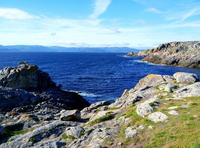 Galicia, Spain Castro De Baroña Castro Ancient Civilization No People Sea And Sky Sea Grass Sky Rock Prehistoric Prehistoric Life Civilization Meets Nature Neolithic Stones SPAIN