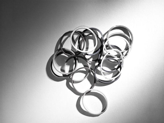 Circle Close-up Geometric Shape Indoors  Jewelry No People Plastic Band Studio Shot White Background