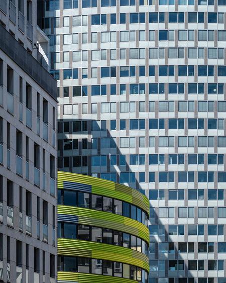 Full frame shot of modern building in city