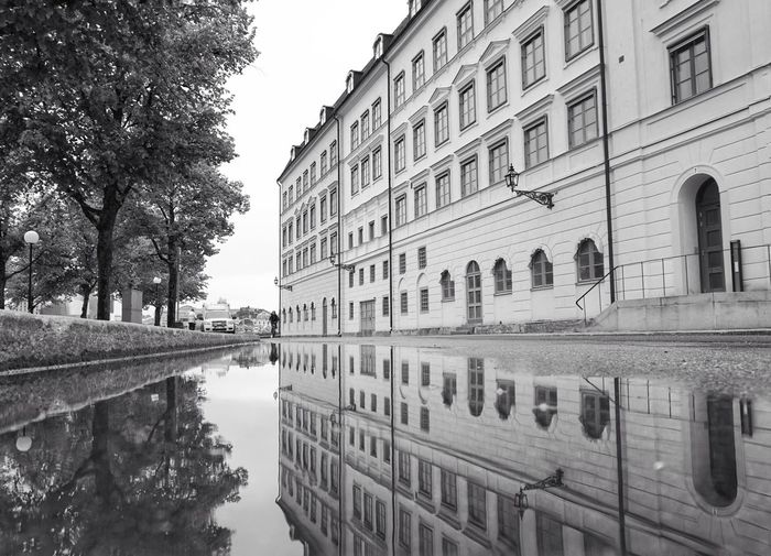 2019 Niklas Storm Maj City Water Reflecting Pool Tree Reflection History Ancient Sky Architecture Building Exterior Puddle Historic Symmetry Building Façade Old Town Standing Water Settlement My Best Photo The Architect - 2019 EyeEm Awards The Street Photographer - 2019 EyeEm Awards