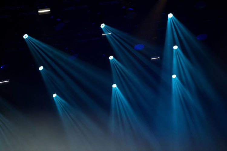 View of blue lights