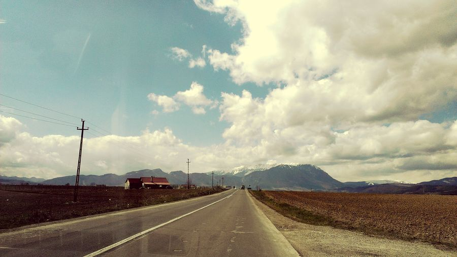 On The Way Nature Sky Landscape Cloud Cloudy Beauty In Nature Day Outdoors Mountain Adventure Mountain Range Feel The Journey Panoramic Landscape Hill Cloud - Sky Road Road Trip Road To Nowhere Roadway Romania Romanian Lands Romanian Mountain
