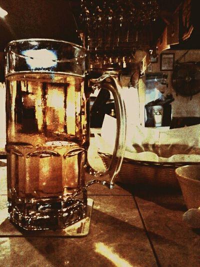 Beer bar mug of beer
