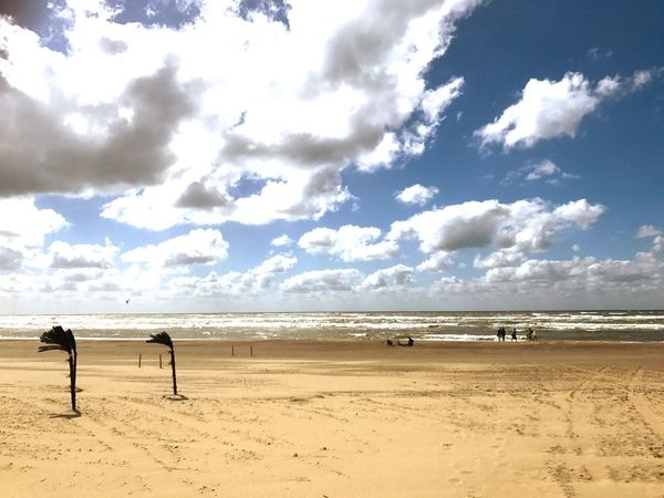 Its a very sunny day at the Northsee Cloud - Sky Sand Beach Sky Nature Beauty In Nature Scenics Tranquility Water Day Outdoors Tranquil Scene Sea Horizon Over Water No People