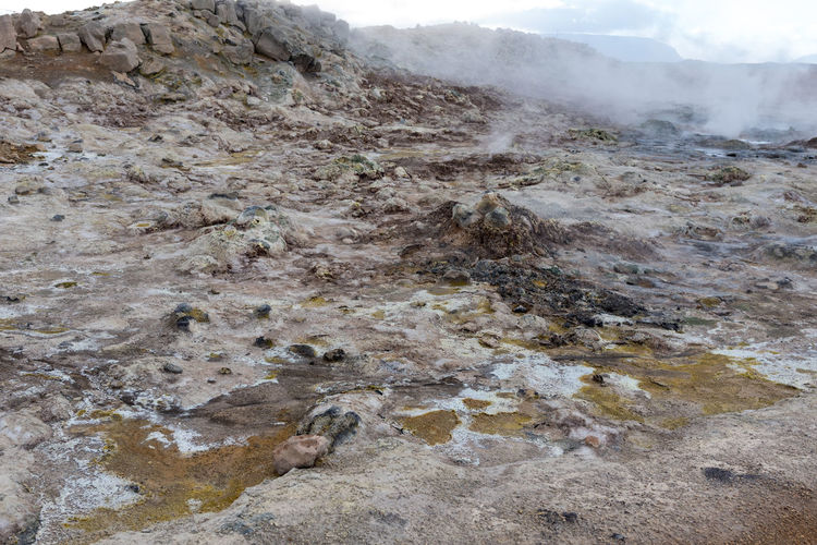 Hverir, rocks and sulfur landscape Just imagine the most unwelcoming planet in our Galaxy and that's how a landing spot could look like. Hot Hverarönd Mars Myvatn Steam Boiling Empty Geothermal  Grey Hverir Mud Orange Color Otherworldly Puddle Road Trip Rotten Egg Stink Sulfur