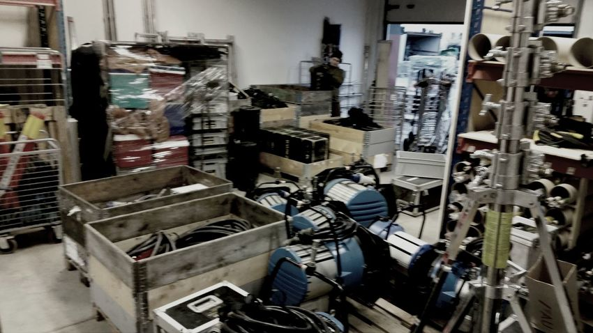 ARRI Film Gear Inventory Wearhouse working at a film rental.