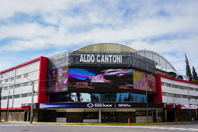 Estadio Aldo Cantoni, San Juan, Argentina Arts Culture And Entertainment Architecture Text Amusement Park Multi Colored Travel Destinations Vacations Nightlife Built Structure Outdoors Sky Building Exterior City Day Film Industry No People San Juan Argentina