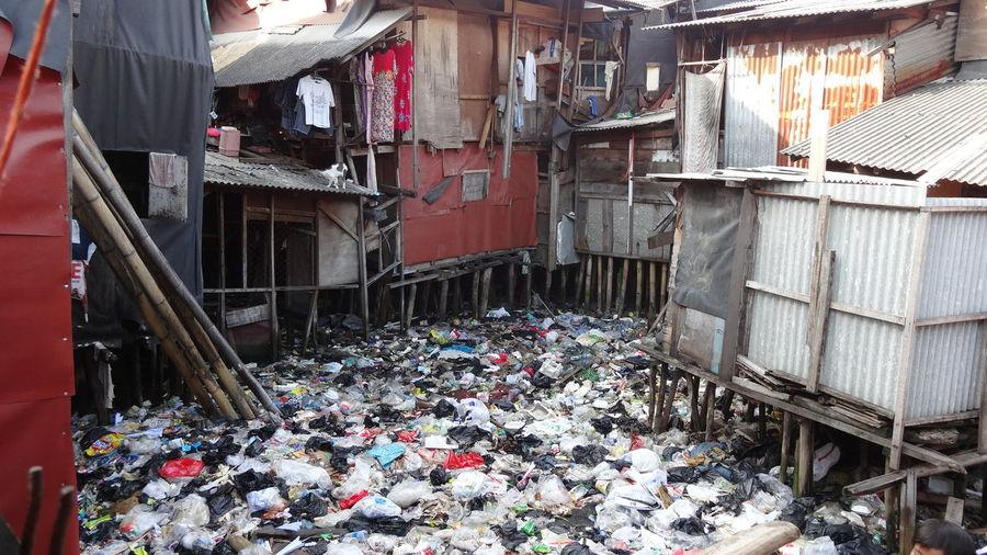 Stilt Houses Surrounding Garbage