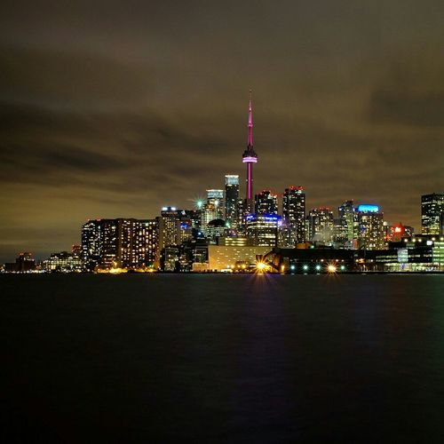 Back to the home city, Toronto. Cityscapes Citylights Canada Toronto YYZ Nightphotography Home Sweet Home Discover Your City Waterfront