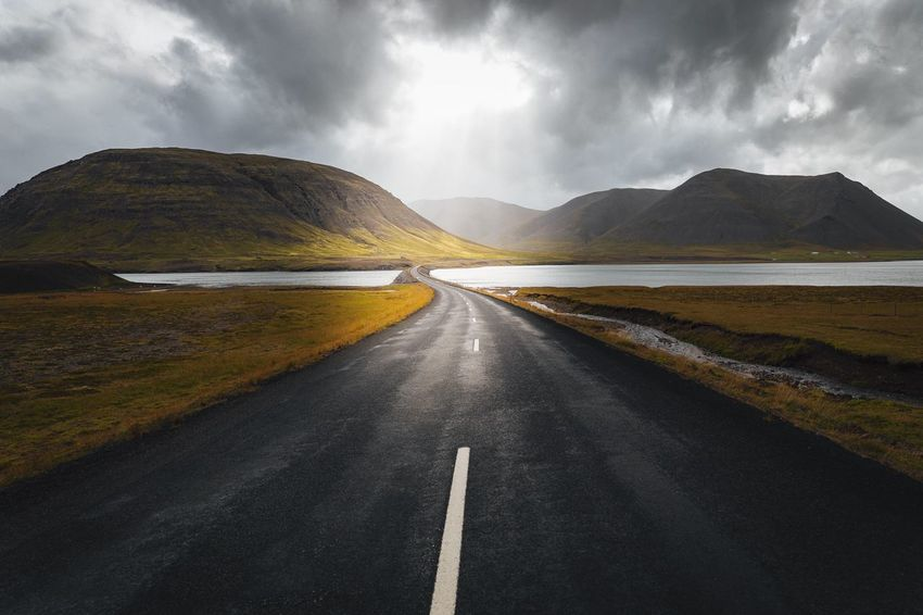 Unlimited possibility on Iceland's Ring Road. Iceland Road Ring Road Light And Shadow Canon 6D Traveling Travel Photography Landscape Landscape_Collection Soft Light Windy Road Mountains Nature