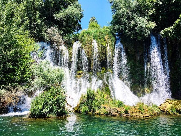 National Park Croatia Krka National Park Water Plant Tree Nature Day Waterfront Beauty In Nature No People Growth Splashing River Sunlight Sky Forest Outdoors Scenics - Nature