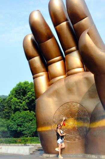 Grand Buddha Big Hand Travel Photography At Wuxi China