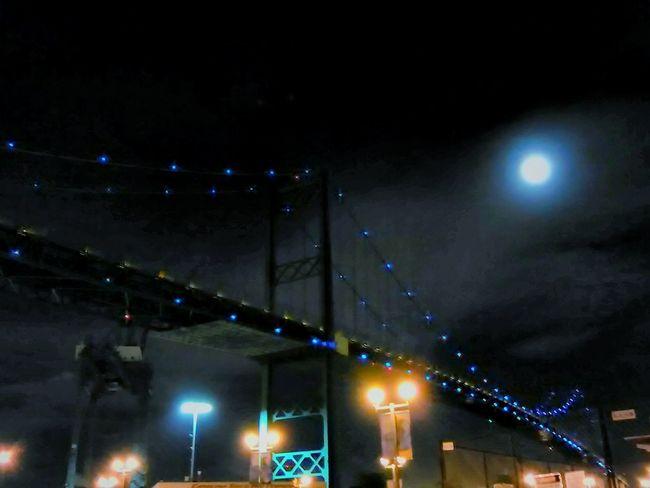 Night Illuminated Celebration Nightlife Street Light No People Event Outdoors City Low Angle View Architecture Sky Vincent Thomas Bridge