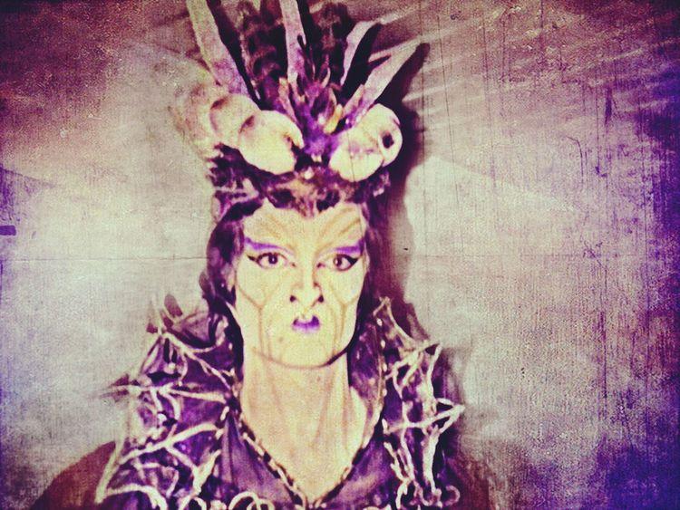 Makeup Maleficent Halloween Ballet Rehearsal