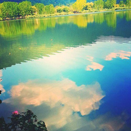 Mountain-lake-cloud and spring