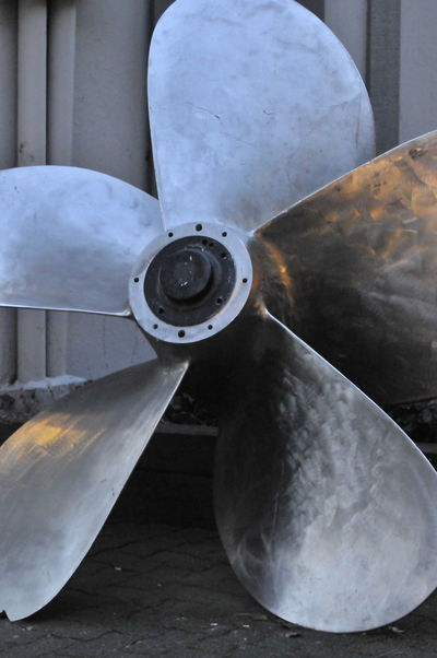 Nautical Equipment Boat Boat Propeller Close-up Day Metal No People Outdoors Parts Propellers Steel