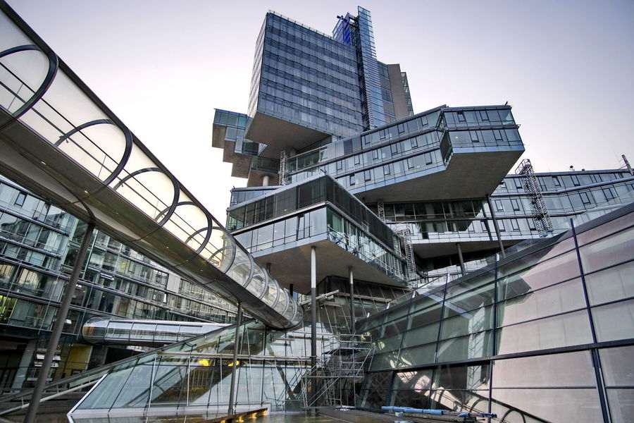 Architecture Built Structure Building Exterior Office Building Exterior Glass - Material No People Tall - High City Nord LB Hannover Bank Bank Building Low Angle View Glas Facade