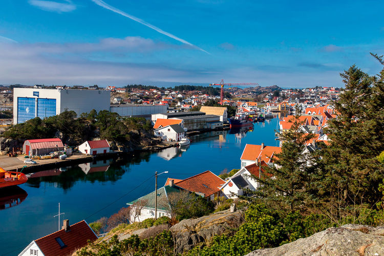 Skudeneshavn, Norway Norway Old Town Scandinavia Skudeneshavn Travel Architecture Building Exterior Built Structure City Cityscape High Angle View Residential Building Sky Town Travel Destinations
