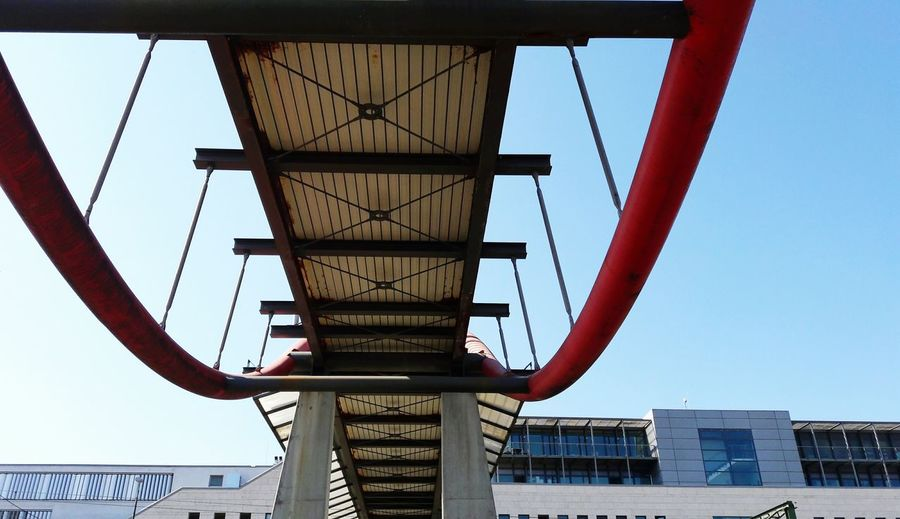 Bridge - Man Made Structure Bridge Low Angle View Outdoors Architecture No People Day Sky Architectural Feature Architectural Detail Transportation Urban Geometry Urban Architecture Bridge Photography Urban Skyline Urban Geometry. Looking Up Konstanz