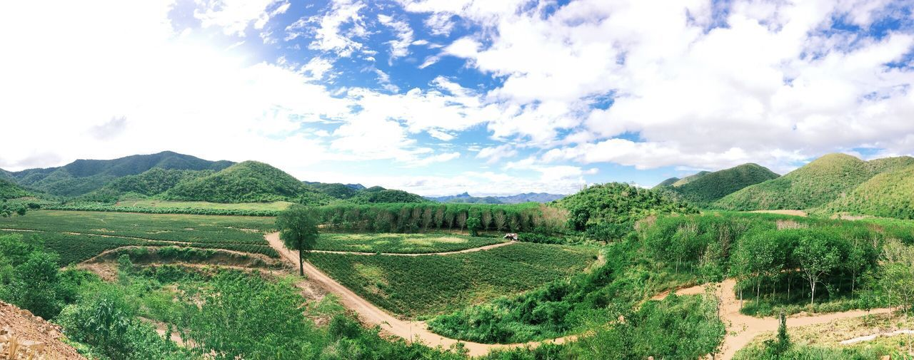 Mountain View Sky And Clouds Pranburi