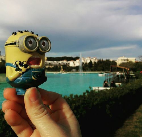 El Minionviajero de vuelta al parque! The Traveller Minion  back at the park!