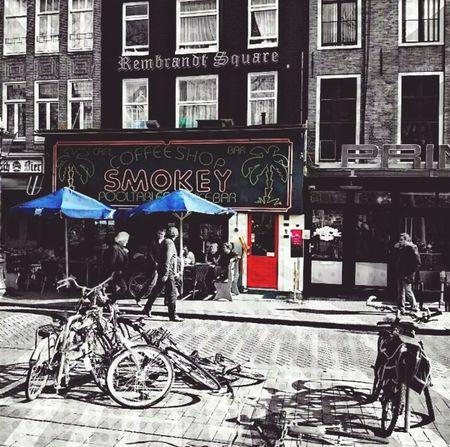 Amsterdam Amsterdamcity Coffeshop Bicycle Amsterdam Streets Transportation Two Tone ArtWork Twotone  Cool... Artistic Netherlands First Eyeem Photo Rembrandt Square likeforlike #likemyphoto #qlikemyphotos #like4like #likemypic #likeback #ilikeback #10likes #50likes #100likes 20likes likere The Street Photographer - 2017 EyeEm Awards