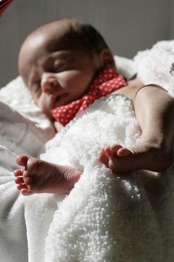 Full length of cute baby girl