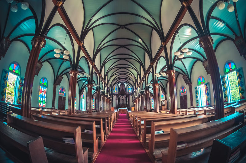 Kurosaki church in Nagasaki, Japan. Architecture Church Japan Nagasaki Arch Architecture Church Architecture In A Row Indoor Photography Indoors  Kurosaki Kurosaki Church Modern Nagasaki JAPAN No People Place Of Worship Religion Religious Architecture Spirituality