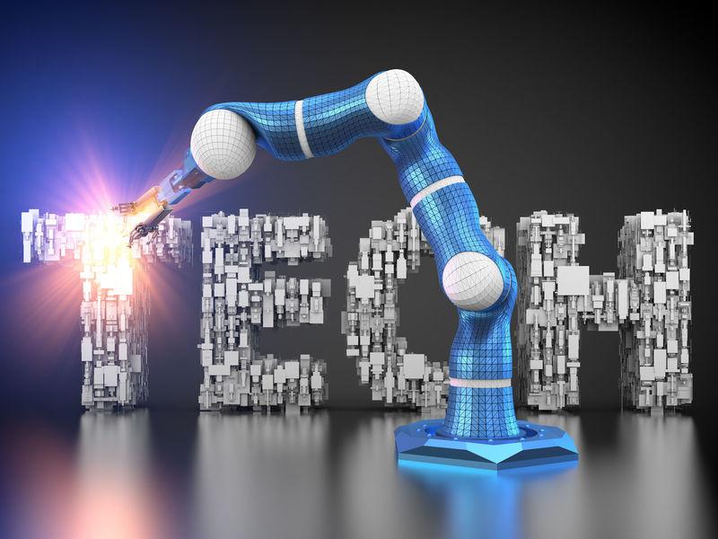 autonomous robot Letters Tech Technics Alphabetic Characters Autonomous Autonomous Robot Autonomously Black Background Blue Manufactory Manufacture Manufacturing Reflection Robot Robotic Robotic Arm Robotics Technical Technological Technology