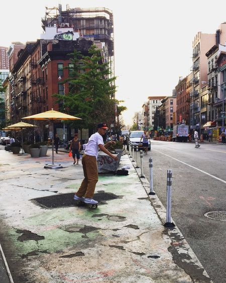 Staying fresh in the Summer NYC Skate Skateboarding City Life Lower East Side Manhattan Summer Travel On The Way