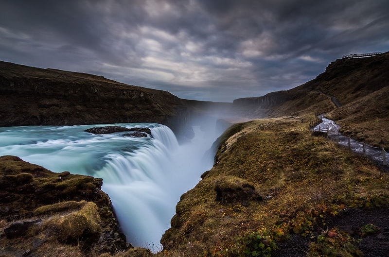 Beauty In Nature Fire Horizon Ice Iceland Landscape Nature Roadtrip Scenics Sky The Great Outdoors - 2016 EyeEm Awards Tranquility Water Waterfall