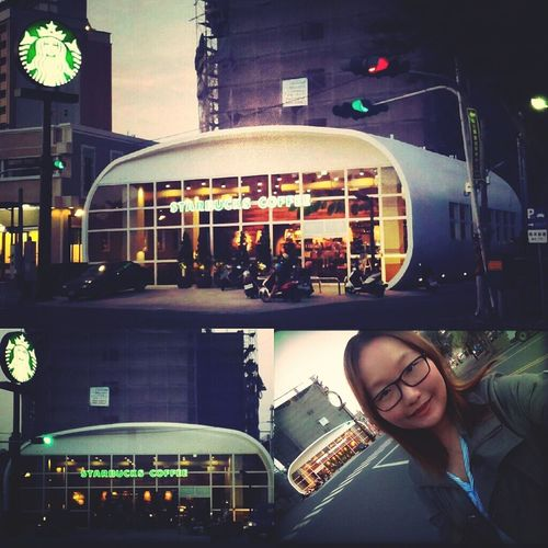 ⊙▽⊙ 太可愛了吧~~覺得像太空艙,朋友說像麵包XD 鹿港 台灣 Taiwan Lukang Starbucks So Cute Life 日常 生活
