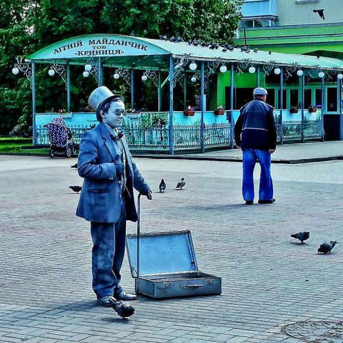 Somewhere in Sumy, Ukraine Check This Out Street Photography Street Mimes Street Performers Steampunk Silver  Sumy Ukraine 💙💛 суми Україна