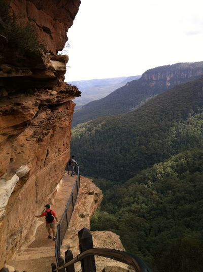 Photos of Blue Mountains National Park, Australia 2012 Adult Adults Only Adventure Beauty In Nature Challenge Cliff Climbing Determination Effort Exercising Healthy Lifestyle Landscape Leisure Activity Lifestyles Men Mountain Nature One Man Only One Person Outdoors Physical Geography Rock - Object Rock Climbing Scenics Strength