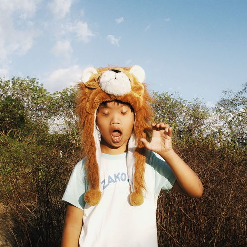 Roar! Portrait Portraits Eyeem Philippines Child Lion Role Play Hat Kid