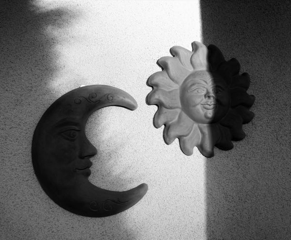 Black & White Black And White Blackandwhite Close-up Creativity Eyem Moon Night And Day Sun