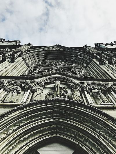 """""""Holy Christ! That is tall!"""" Visiting Trondheim, Norway by 🎥 Architecture Low Angle View Built Structure Building Exterior Sky Cloud - Sky Day No People Outdoors Façade Travel Destinations Sculpture 12MP"""