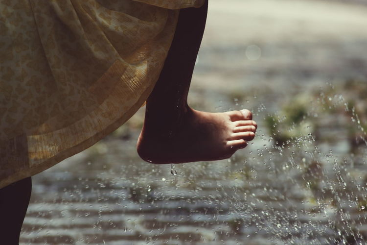 You learn a lot when you're barefoot. The first thing is every step you take is different. Michael Franti Waterdrops Water Enjoying Life Childhood Elementary Age EyeEm Best Shots - People + Portrait The Portraitist - 2016 EyeEm Awards Portrait Of A Girl Memories Enjoying Life Exceptional Photographs Natural Light The Essence Of Summer Pastel Summer Outdoors Happiness Close Up Portrait Girl Power Original Experiences Showcase June Home Is Where The Art Is