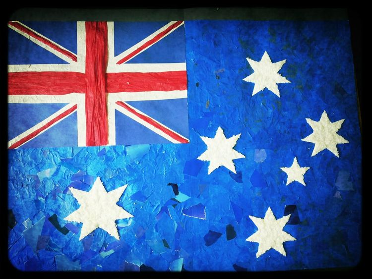 Bandera Australia Linda Trabajo English Day
