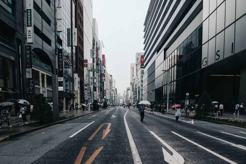 GINZA stret Fujifilm_xseries Fujifilm X-pro2 Streetphotography Building Exterior City Architecture Built Structure Transportation Street EyeEmNewHere Road Sign City Street