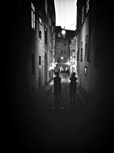 Graz v noci Rakousko