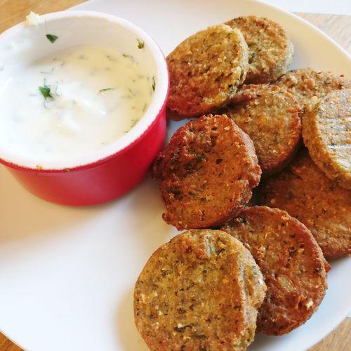 Falafel Greekyogurt Summer Healthyfood💪🍶 Plate Close-up Food And Drink Sauce
