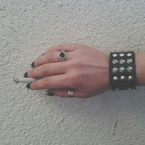Human Hand Ring Human Body Part One Person Nail Art One Woman Only Close-up Adults Only Arts Culture And Entertainment People Adult Day Red Carpet Event Outdoors Real People Artsy Rock'n'Roll Rockstar Smoking Cigs Cigarette