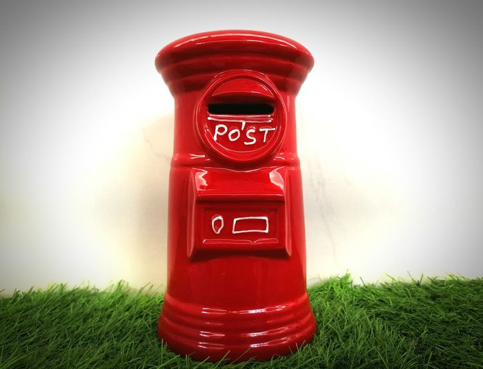 Red No People Saving Box Model Plastic Model Mailbox Mailbox Model Post Box  Art Is Everywhere