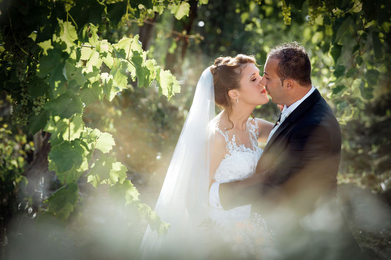 Adult Bride Bridegroom Celebration Couple - Relationship Event Face To Face Heterosexual Couple Husband Life Events Love Married Men Newlywed Positive Emotion Romance Togetherness Two People Wedding Wedding Dress Wife Women