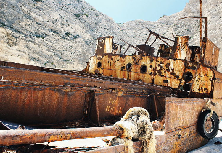 Rusty Abandoned Shipwreck