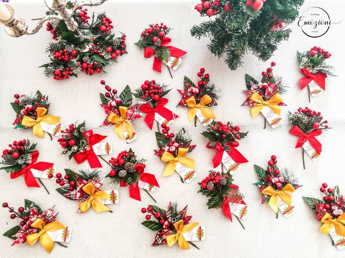 Segnaposti natalizi MerryChristmas GalaDinner Events EventPhotography Sardinia Christmas Decoration High Angle View Flower Red No People Beauty Nature Day
